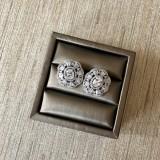 Cubic Zirconia Blooming Stud Earrings