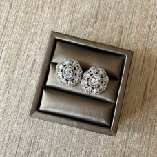 Cubic Zirconia Blooming Stud Earrings