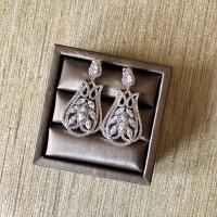 Cubic Zirconia Filgree Earrings