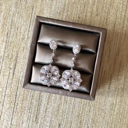 Cubic Flower Earrings