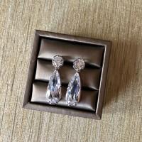 Simple Cubic Dual Stone Earrings